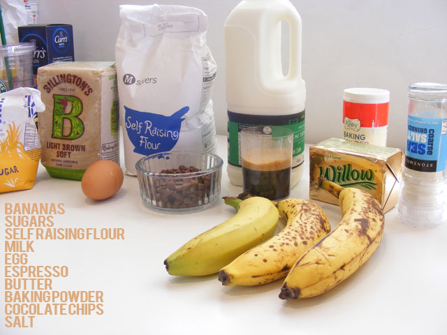 banana espresso cake ingredients