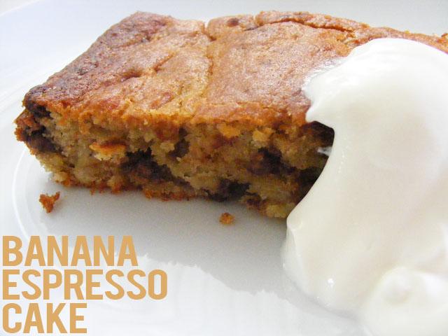 banana espresso cake