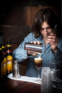 The Liquorists Massimo Zitti creates a new Kahlua meets coffee sensation for Salon de Kahlua at Chorlton Coffee Festival CLOSE SHOT (1)